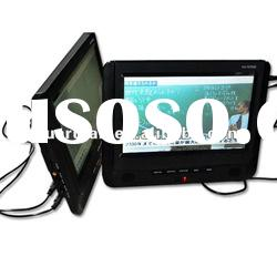 7 inch double screen portable dvd player