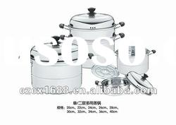 7 pcs Cookware steam pot sets