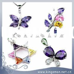 925 sterling silver jewelry pendant with CZ stone butterfly dragonfly pendant