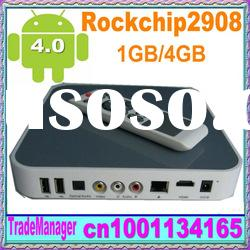 Android 4.0 OS HDMI or TV-OUT Android TV BOX google tv box HDD player, Media player