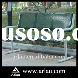Arlau FS81 China Patio Straight Backed Bench Steel Pipe Ends