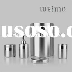 Brushed stainless steel bathroom accessory