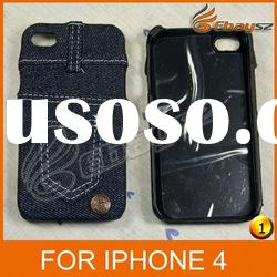 CA-Free Shipping New Stylish Jeans Protective Cover Case For iPhone 4 LF-0475