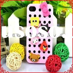 Cartoon Doll 3D Silicone Case Cover for iphone 4 4s 4g