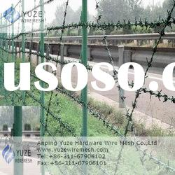 Electro galvanized barbed steel wire mesh