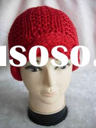 Fashion lady red knitted hat