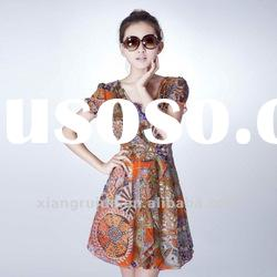 Fashion summer 2012 slim elegant fancy chiffon short skirt one-piece dress 211296