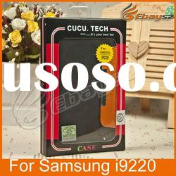 Genuine Flip Leather Case for Samsung note i9220,With Retail Package FG-0084