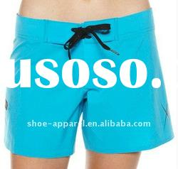 High quality hot polyester ladies shorts on beach
