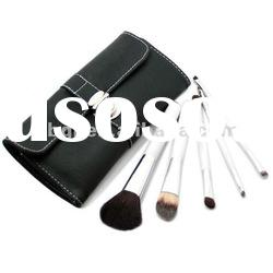 High-ranking white color animal hair 5pcs double ended cosmetic brush set