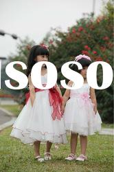 Hot sale! pretty & fashion summer little girls party clothing 2012