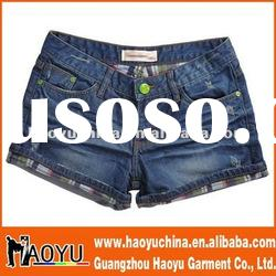Hot sales fashion girls jean shorts (HY412)