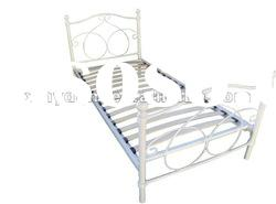 Hotsell Latest bed designs pink metal single bed