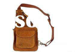 Latest designer high quality cow leather men's chest sling bag