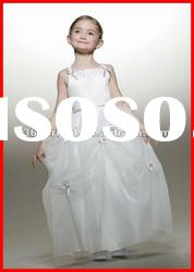 Little Queen Ball Gown Spaghetti strap Organza Flower Girl Dress 2012