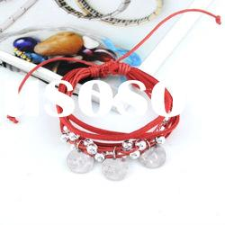 Lucky Red Sheep Leather Rope Wove Bracelets,Cheap Wholesale Women Fshion Jewelry Bracelets, br-881b