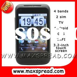 MAX-A510 3.2 inch android wifi gps 2 sim 2 camera cell phone