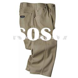 Mens Heavy Cotton Worker Casual Pants Workwear Trousers