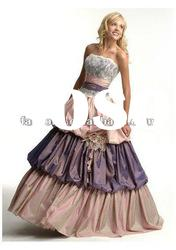 New arrival strapless ball gown taffeta prom gown