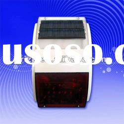 Outdoor siren with solar panel supply for electronic siren