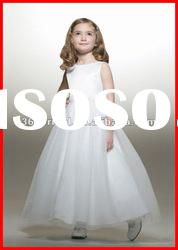 PYN2188 Lovely A Line Sleeveless Satin Flower Girl Dresses For Weddings 2012