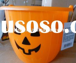 Plastic Halloween& Pumpkin Bucket,Candy pumpkin