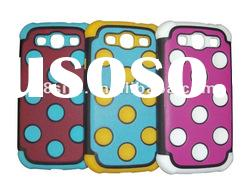 Polka Dot Cell Phone Combo Cover Case For SamSung i9300 Galaxy S3