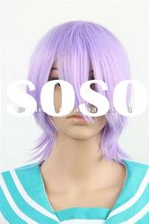 Pretty girl anime party wig/Short purple synthetic wigs(BSFW-2207)