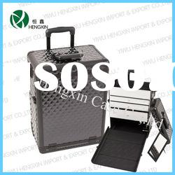 Professional Makeup Artist Train Cosmetic trolley Case with Drawers