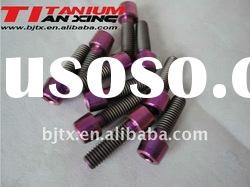 Red Color Titanium Bolt for Bicycle