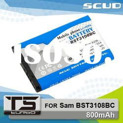 SCUD Mobile Phone Batteries for Samsung BST3108BC 800mAh