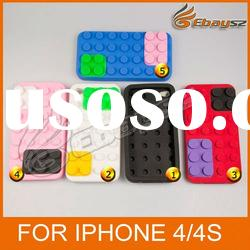 Smart Toy Building Block Silicone Protective Case for Apple iPhone 4 / 4S &LF-0434