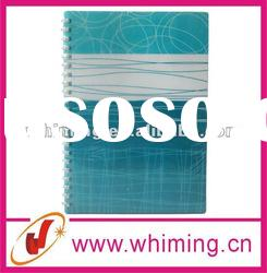 Spiral notebook with colored paper