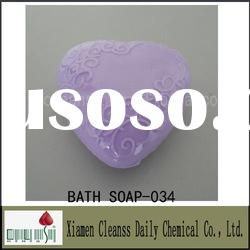 Top Quality Bath Soap In Heart-shape For Lavender Fragrance