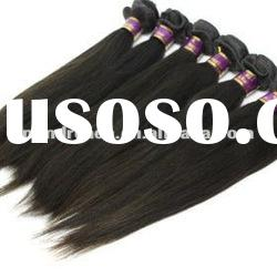 "Top quality 10"" 1b# silk straight Indian remy human hair weft"