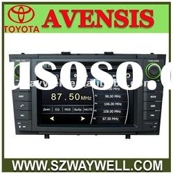 Toyota Avensis 7 inch car gps dvd with RDS radio