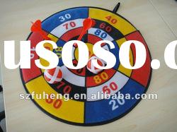 Velcro dart board games with darts and sticky balls