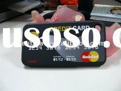 Wholesale price silicone case Credit card design for iphone 4s