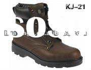 active softness genuine leather PU sole men working safety boots manufacturer