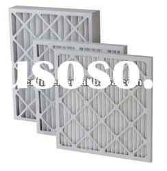 air filtration with synthetic fiber media and paper frame