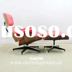 charles eames lounge chair and ottoman red leather