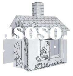 children cardboard play toy house 3D puzzle
