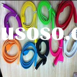 colorful 1m 2m 3m promotional usb 2.0 to 30pin flat cable for apple ,iphone.ipad,ipod