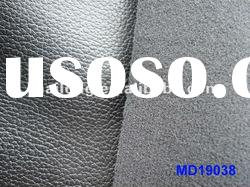 faux PU leather for sofa material with elastic fabric backing