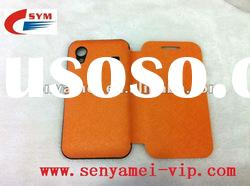 flip cover leather case For Samsung Ace S5830