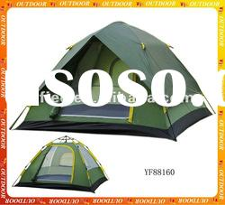 four person double layer automatic tent