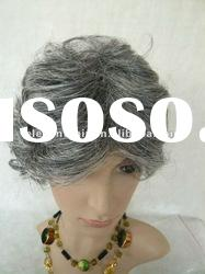 grey color for ,indian remy hair lace front wig