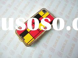 hot sale good quality silicone cell phone cover with rhinestone around design mobile phone cover