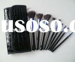 hot sell makeup brush set with charming pattern pouch , OEM./ODM are avalable