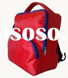 hot selling!2012 school backpack bags with water bottle in red color